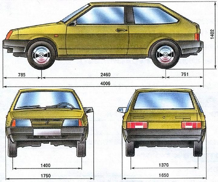 Размеры ВАЗ 2113