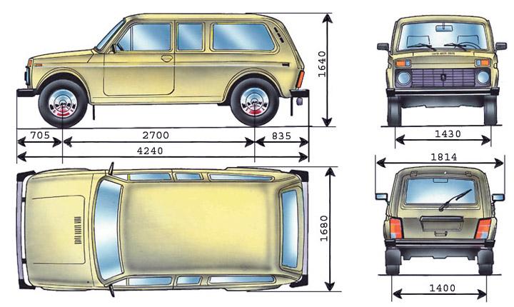 Размеры ВАЗ 2129
