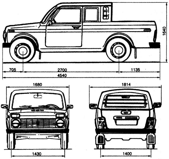 Размеры ВАЗ 2329